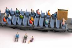 Sitzende Figuren, einfach bemalt Spur 0