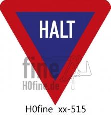 Verkehrszeichen Halt Vorfahrt achten
