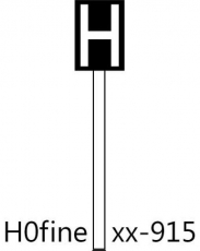 Haltetafel, schwarze Tafel (Ne 5)