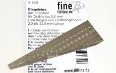 Biegelehre für Drähten bis 0,5 mm, Edelstahl