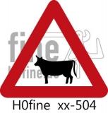 Verkehrszeichen Tiere