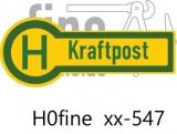 Verkehrszeichen Kraftpost-Haltestelle, beidseitig beschriftet