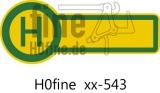 Verkehrszeichen Haltestelle, beidseitig beschriftet