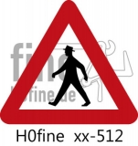Verkehrszeichen Fußgänger (ab 1971)