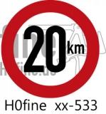 Verkehrszeichen Geschwindigkeitsbegrenzung 20 km/h