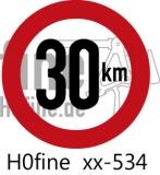 Verkehrszeichen Geschwindigkeitsbegrenzung 30 km/h