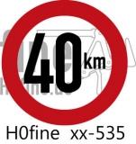 Verkehrszeichen Geschwindigkeitsbegrenzung 40 km/h