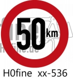 Verkehrszeichen Geschwindigkeitsbegrenzung 50 km/h