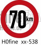 Verkehrszeichen Geschwindigkeitsbegrenzung 70 km/h