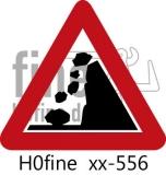 Verkehrszeichen Steinschlag