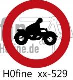 Verkehrszeichen Verbot für Krafträder (ab 1971)