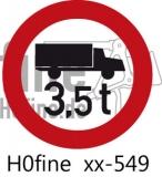 Verkehrszeichen Verbot für Lkw über 3,5 t