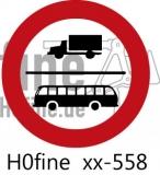Verkehrszeichen Verbot für Lkw und Omnibusse