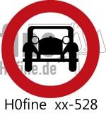 Verkehrszeichen Verbot für mehrspurige Kraftfahrzeuge