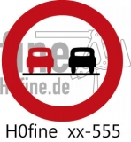 Verkehrszeichen Überholverbot 1953