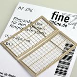 Filigranätzfenster für Vollmer Ringlokschuppen 15,7 x 34,6 mm, 2 Stk.