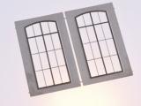 Filigranätzfenster UG (Auhagen Fenster L) 10 x 21,6 mm Sprossenteilung B, 2 Stk.