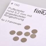 Pufferteller rund 5,2 mm mit angedeuteter Ringbohrung