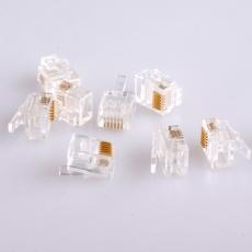 Modularstecker 6-6 für graues AWG26-Kabel