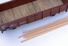 Lindenholzstreifen für H0-Wagenböden