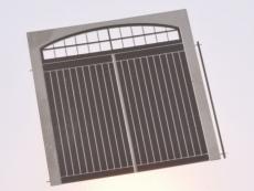 Filigranholztor mit Bogenfenster (Auhagen Tor G) 33 x 37,2 mm, 1 Stk.