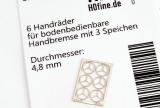 Handräder für bodenbedienbare Handbremse klein