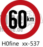 Verkehrszeichen Geschwindigkeitsbegrenzung 60 km/h