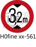 Verkehrszeichen Verkehrsverbot für Fahrzeuge über angezeigter Höhe