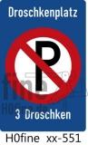 Verkehrszeichen Droschkenplatz (bis 1971)