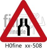 Verkehrszeichen Engpaß