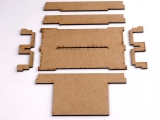 FRED/FREDI-Halter doppelt zur Montage hinter der LN-Box, MDF-Bausatz
