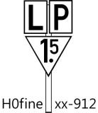 LP-Tafel mit Geschwindigkeit Lf4