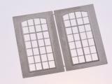 Filigranätzfenster UG (Auhagen Fenster L) 10 x 21,6 mm Sprossenteilung A, 2 Stk.