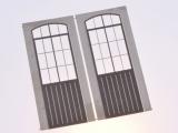 Filigranätztüren (Auhagen Tür D) 12 x 36,5 mm Sprossenteilung B, 2 Stk.