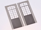 Filigranätztüren (Auhagen Tür D) 12 x 36,5 mm Sprossenteilung A, 2 Stk.