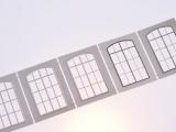 Filigranätzfenster UG (Auhagen Typ A) 12 x 21,6 mm Sprossenteilung B, 5 Stk.